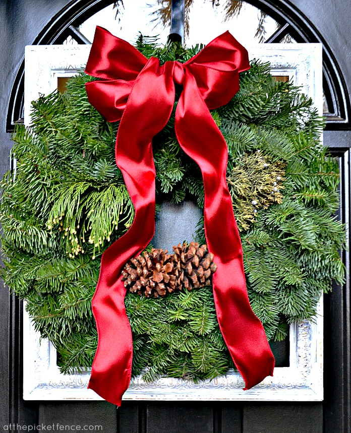 Frame A Christmas Wreath On Front Door Reel Homes